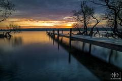 _DSC0472-1webF (oolcgoo) Tags: lake berlin water clouds sunrise germany deutschland see wasser europa europe sony wolken tokina adobe pro alpha sonnenaufgang slt steg amount weitwinkel 1116 uww dx2 apsc