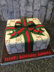 Gucci gift birthday cake