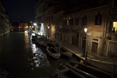 Venice at night. One of the smaller canals branching off of the Grand Canal. (JAY D DADDY) Tags: plaza travel venice italy david vatican rome roma castle museum night canon square florence long exposure italia wine zoom forum colosseum winery tuscany 5d academia 24 mm 105 toscana venezia capitoline lense 24105 piaza