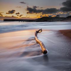 The Log (Squareburn) Tags: seascape sunrise square dawn coast northumberland seatonsluice watermovement