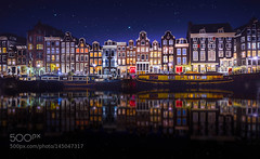 Amsterdam. (l3v1k) Tags: bridge blue windows red holiday love home netherlands beer colors dutch amsterdam work stars happy march canal hands tulips weekend remo the touristical 500px wbpa scarfo ifttt 500pxtours