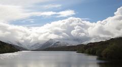 0357 Spring snow at Llyn Padarn (Andy in relax mode) Tags: lake snow water clouds www ccc snowdonia sss ppp lll eryri eee llynpadarn 20160429