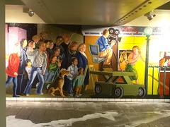 """ Underground Action "" (ColFineArtistMar1) Tags: nyc art colors metal painting subway mural bright manhattan tiles centralstation"