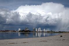 Storm over Copenhagen (Louise Staalsen) Tags: city storm water rain weather clouds copenhagen cityscape meteorology resund