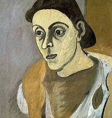 Portrait of Vartoosh, circa 1936-1937 // by Arshile Gorky (mike catalonian) Tags: portrait face female painting 1930s 1937 arshilegorky