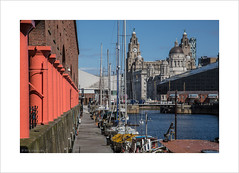 View from the dock (andyrousephotography) Tags: liverpool island dock waterfront threegraces mann yachts albertdock royalliverbuilding portofliverpoolbuilding cunardbuilding museumofliverpool