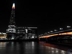 the shard tower & london bridge (ercan.cetin) Tags: longexposure bridge london tower nightlights shard langzeitbelichtung langebelichtung uzunpozlama