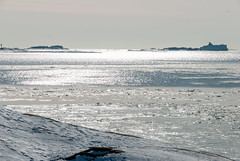 Frozen Sea (LiveToday84) Tags: trip travel winter sea ice water island boat frozen helsinki north suomenlinna d80