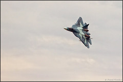 Sukhoi T-50 with AA-12 (Pavel Vanka) Tags: plane airplane fly flying fighter russia aircraft jet airshow stealth missile spotting adder fifth aerobatic sukhoi spotter kubinka t50 stealthfighter 5thgeneration aa12 r77 russianairforce uumb pakfa army2015 amramski