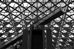Collins Place (_Bernie_) Tags: roof blackandwhite glass metal architecture triangles lift elevator melbourne structure collinsplace d610 nikon50mmf14ais