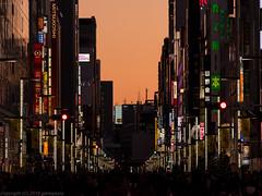 Ginza street twilight (gemapozo) Tags: street japan tokyo ginza twilight pentax jp 日本 歩行者天国 夕暮れ 東京都 中央区 ginzastreet 銀座通り 645z smcpentaxfa645300mmf56edif