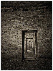 No Exit (AikiUser) Tags: monochrome ancient ruins native stonework historic doorway southwestern