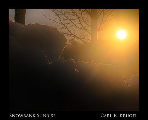 13 Snowbank Sunrise