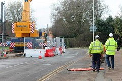 Stepnell Construction For Oakham School Station Road Closed One Way Ainscough Crane  (4) (@oakhamuk) Tags: road school station way one for construction closed crane rutland oakham ainscough martinbrookes stepnell