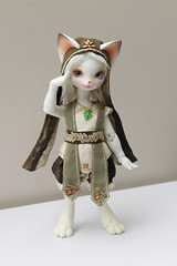 Three doll hybrid! (Damasquerade) Tags: rabbit bunny feet legs body head may rey bjd 16 paws hybrid fairyland ws realfee dearmine 2ddoll