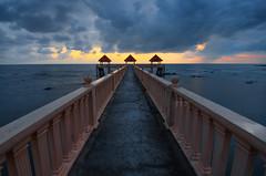 Scenery of Tanjung Balau Jetty Before Storm (Syafiqjay) Tags: sea cloud seascape storm rain sunrise landscape nikon jetty monsoon malaysia hdr highdynamicrange johor southchinasea tanjung balau aisa tanjungbalau syafiqjay