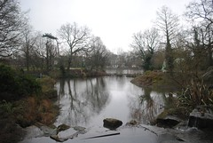 Dinasours by the lake (zawtowers) Tags: park lake green london wet by afternoon place crystal 10 walk south side victorian saturday palace grade chain created trail rainy february left overlooking stroll 13th section listed 1854 beckenham crystalpalacepark mosasaurus dinasour i benjaminwaterhousehawkins