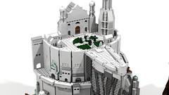 Minas Tirith 17 (Anduin1710) Tags: city white men king minas lego lotr return tolkien middleearth jrr tirith the thelordoftherings ldd gondor digitaldesigner