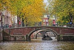Bridges over the Prinsengracht, Amsterdam, Netherlands (PhotosToArtByMike) Tags: bridge holland netherlands dutch amsterdam canal bikes prinsengracht houseboats prinsengrachtcanal canalhouse grachtengordel canalring