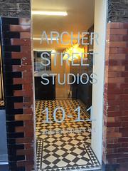 Archer Studios door (wearearchers) Tags: theatre signage archers w1 westend theatreland archerstreet officerefurbishment largeformatdigitalprinting archerstudios