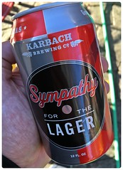 Sympathy for the Lager (Danburg Murmur) Tags: beer texas cerveza houston beercan bier birra bia bire l aluminumcan bira  cervesa sr     serbesa   sympathyforthelager karbachbrewingcompany