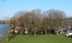 verborgen huis bij Kanaleneiland (bcbvisser13) Tags: trees cars utrecht cottage nederland eu flats grassland kanaleneiland amsterdamrijnkanaal