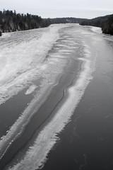 Madawaska ribbon melt (Barbara A. White) Tags: winter ontario canada vertical january icesheets woodlawn riverscape madawaskariver burnstownrd
