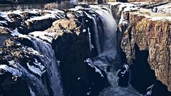 The Great Falls in Paterson NJ (maamounmohammed) Tags: snow beautiful waterfall newjersey sony greatfalls nj sigma 30mm sigmalens thegreatfalls sonya6000 winter2016