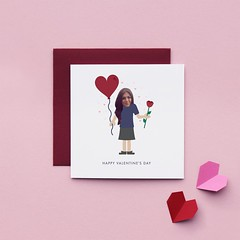 Little Envelope Customized Valentine (all things paper) Tags: valentine greetingcard photocard personalizedcard customizedcard