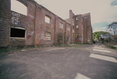Maltings (goodfella2459) Tags: new colour abandoned film wales analog 35mm lens highlands nikon factory kodak south slide southern 100 af nikkor elitechrome milf e6 f4 maltings mittagong 14mm f28d