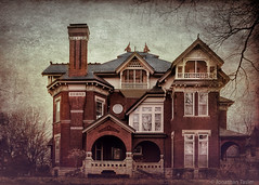 Gargoyle House - Side (Jonathan Tasler) Tags: house texture victorian kansas victorianhouse atchison griffons gargoylehouse