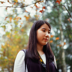(elgartheseven) Tags: portrait girl hongkong leaf maple mapleleaf
