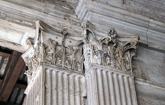 Pantheon porch pilaster capitals