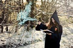 Expecto Patronum (AlannisBarnesPhotography) Tags: book wizard magic harry potter concept conceptual hermione spells expecto patronum