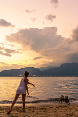 Go get it ! (Toms Kim) Tags: sunset sea brazil dog seascape sony moment ilhabela