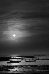 20160226_ZA_Manori_Maharashtra_1611 (Zabeeh_India) Tags: morning travel blue sunset sea sky sun india beach silhouette yellow rock horizontal landscape outdoors photography surf indian horizon couples wave sunny nopeople canoe bombay coastline maharashtra mumbai buoy clearsky dinghy moored arabiansea manori horizonoverwater nauticalvessel sunrisedawn mumbnai zabeehafaque zbhafq