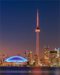 CN Tower - Toronto - Canada (~ Floydian ~ ) Tags: city longexposure sunset toronto ontario canada skyline canon photography evening twilight cityscape cntower dusk centre bluehour rogers torontoislands rogerscentre floydian canoneos1dsmarkiii henkmeijer