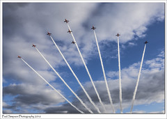 Red Arrows Display (Paul Simpson Photography) Tags: clouds speed airplane flying jets lincolnshire planes redarrows aeroplanes aerobatic displayteam photosof imageof photoof rafscampton imagesof sonya77 paulsimpsonphotography february2016
