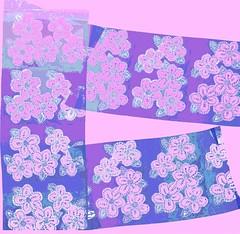 Digital Daisy Print in Pink and Purple (randubnick) Tags: art digitalart painter posterized patternpen digitaldaisies