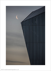 The Moon and the Air Shard (andyrousephotography) Tags: moon abstract architecture modern sunrise grey air modernism salfordquays shard imperialwarmuseumnorth