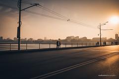 Sunrise across the Taedong River (reubenteo) Tags: sunset building sunrise landscape asia korea communist communism kimjongil socialist socialism northkorea pyongyang kimilsung kimjongun