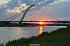 20160228  (Stuart Chen Photography) Tags: bridge sunset sky cloud grass river nikon riverside dusk taiwan  taipei                d3200
