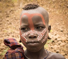 Painted Mursi Boy (Rod Waddington) Tags: africa boy portrait male face african painted traditional tribal afrika omovalley ethiopia tribe ethnic mago mursi ethnicity afrique ethiopian omo etiopia ethiopie etiopian omoriver