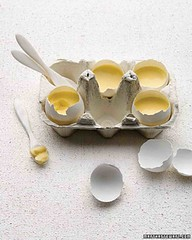 Eggshell Custard (Heath & the B.L.T. boys) Tags: dessert egg marthastewart eggcarton