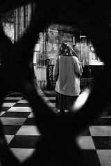 Contemplazione in Notre Dame de Paris (riccardofloyd) Tags: blackandwhite woman paris person persona donna loneliness cathedral streetphotography francia biancoenero contemplation parigi cattedrale solitudine contemplazione