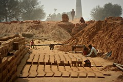 Brick factory (Scossadream) Tags: door light woman india elephant colour bus brick stone kids children temple kid women squirrel gallery desert fort shepherd balcony delhi indian faith swastika flock plate flamingos palace camel mausoleum dome spacemonkey worker superstition bikaner karnimata jaisalmer rajasthan jodhpur redfort humayunstomb jamamasjid smp mehrangarh bluecity mandawa badabagh divinities svastica junagarh thardesert scossa jaswantthada indiangate d7100 worldpeacegong lucaguizzardi spacemonkeypictures nikond7100
