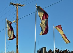 Flapping Flags 83/366 (Jo-Warming Up To The 80's :)) Tags: 3 windy flags fluttering day83366 366the2016edition 3662016 23mar16