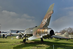 North American F-100D Super Sabre (HDR) (Bri_J) Tags: uk nikon jet f100 coventry hdr airmuseum coldwar northamerican aviationmuseum midlandairmuseum f100d supersabre warks strikeaircraft d7200