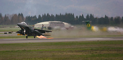 Paint Removal (Michael Swaja Photography) Tags: mountain home oregon portland airport eagle aircraft aviation military id jet idaho international strike pdx boeing ang usaf takeoff afb afterburner f15e kpdx