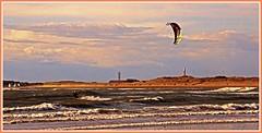 Level. (peterdouglas1) Tags: seaside waves kitesurfing beaches rhosneigr